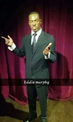Mr. Eddie Murphy. Voice of Mushu (dragon in Mulan) and he played Doctor Dolittle. Hes also a comedian. #HollywoodWaxMuseum