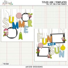 Titled #08 | Templates by Akizo Designs - for Digital Scrapbooking Layout / Page