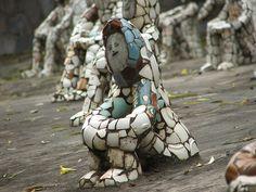 Nek Chand's Picassiette People – Mosaic Art Sculpture – Recycled Art – Rock Garden   Mosaic Art Source