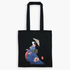 Original Japanese Art Ukiyo-e Tote Bag - Waiting for The Rain Words To Describe, Japanese Art, Fashion Art, Waiting, Rain, Reusable Tote Bags, The Originals, Stuff To Buy, Style
