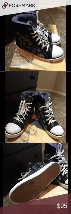 NWOT Authentic UGG High Tops Size 7 NWOT Authentic UGG High Tops Size 7  Gorgeous fun soft fur lined authentic UGG  Size 7 blue denim UGG Shoes Ankle Boots & Booties