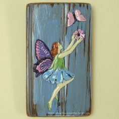 Wall-Hung Hand-Painted Fairy Key Holder or Jewelry Holder Wall Hanging - $27.50