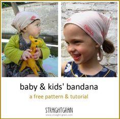 Baby und Mädchen Kopftuch - Free pattern and tutorial: Baby and kids' bandana | StraightGrain