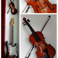 How To Hang Violin And The Wall On Pinterest