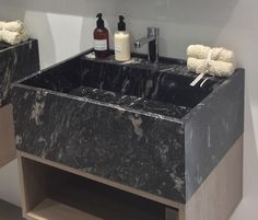 Natural Stone, Black Marble Basin by L'antic Colonial of Porcelanosa