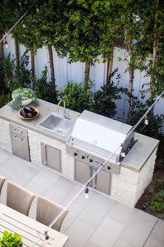 Brooke Wagner Deign is a full service interior design firm based in Corona Del Mar, CA. Outdoor Bbq Kitchen, Outdoor Kitchen Design, Patio Design, Exterior Design, Outdoor Rooms, Outdoor Gardens, Outdoor Living, Outdoor Decor, Barbecue Garden