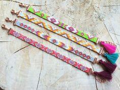 Bead Loom Bracelet Miyuki Delica Bracelet by TheBohoMinimalist Loom Patterns, Beading Patterns, Motifs Aztèques, Tapestry Loom, Motifs Perler, Bead Loom Bracelets, Tear, Loom Weaving, Seed Beads