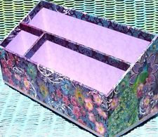 pOOCH sWEETHEART Large File/Letter Holder Desk Caddy Organizer - Orchid Peacock