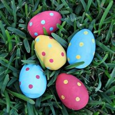 Painted Wood Easter Eggs