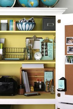 Craft space shelves