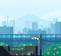 [OC][WIP][CC] Made another city - is the animation too busy? http://ift.tt/2t5NHoB