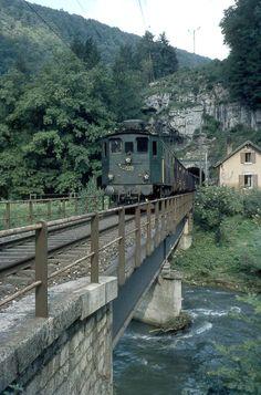 SBB, Bärschwil-Liesberg, Birsbrücke, Ae 3/5 10211, Aufnahme 1965