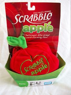 Scrabble Apple - Family Crossword Game Cool - I've never seen this before. Looks neat. #scrabble #games