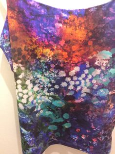Photographic/Painterly effect florals Topshop A/W2013