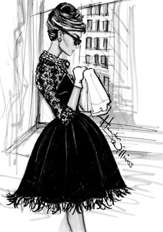 One of my favorite movie scenes... Audrey with her coffee & croissant, window shopping at Tiffany