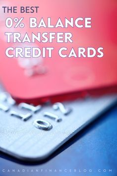 credit cards you can transfer balances to