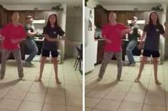 A Dad Videobombed His Daughters Dancing And Showed Them Up Spectacularly