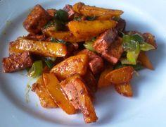 dýně Cauliflower Vegetable, Tofu, Chicken Wings, Fries, Vegetarian Recipes, Vegan, Vegetables, Sweet, Ethnic Recipes