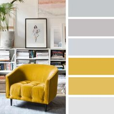 14 ideas Brighten up your room with yellow mustard color Color Schemes Design, House Color Schemes, Living Room Color Schemes, House Colors, Mustard Color Scheme, Green Girls Rooms, Yellow Sofa, Sofa Colors, Color Pallets