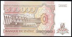 ZAİRE 500000 ZAİRES 1992.ÇİLL -