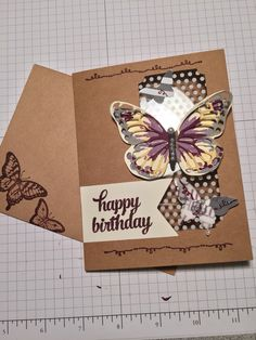Stampin' Up! Tin of Cards alternative using Waterwings and butterfly thinlits.