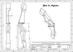 Guia do Arqueiro - Tiro com Arco: Projeto de riser (empunhadura) para arco recurvo                                                                                                                                                      Más