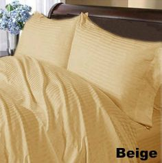 300 TC Factory Pack 100% Egyptian cotton 2 piece Gorgeous Pillow Covers 300 THREADS Full Beige Stripe by pearlbedding. $33.99. Extra Comfortable and most Contemporary Pillowcases.. THREAD COUNT/MATERIAL: 300TC , 100% Egyptian Cotton. This is 2 PILLOWCASES only. Excellent value for money.. Machine wash and tumble dry for easy care. No Ironing Necessary.. Experience true luxury when you sleep on these Eqyptian cotton Pillowcases.. Super Soft Pillowcases with super soft...