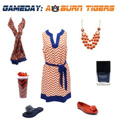 Auburn Tigers Game Day Outfit and Accessories