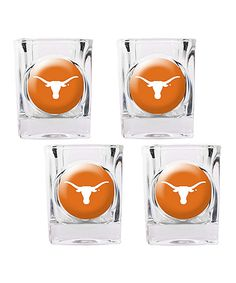 e2f376b0d44d Great American Products Texas Longhorns Square Shot Glass - Set of Four