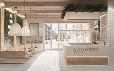 Cafe Shop Design, Coffee Shop Interior Design, Retail Interior Design, Bakery Design, Restaurant Interior Design, Interior Decorating, Cozy Coffee Shop, My Coffee, Bakery Interior