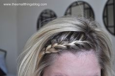 Braided bangs. A cute hair style for child or grown-up.
