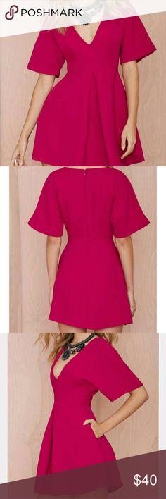 "NASTY GAL dress Nasty Gal ""Carrie "" pleated mini dress. It's a burgundy /purple color. Nasty Gal Dresses Mini"