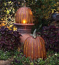 Galvanized Steel Great Pumpkin Lantern