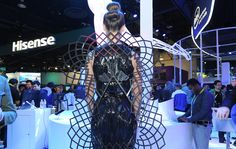 Intels conceptual Adrenaline Dress gets upset when you do  Intel tapped Chromat to make its weird and wonderful Adrenaline Dress. Packing Intels Curie computing module the garment senses differences in adrenaline (based on your conductivity). A network of elaborate 3D-printed panels and a carbon-fiber skeleton then expands outwards like a mutant porcupine had wings. Interestingly theres no airpump or servos: it uses alloys that expand and contract to heat that are responsible for the…