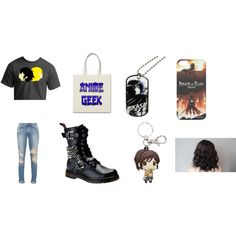 anime by spirtgirl13 on Polyvore featuring Demonia and Mikasa