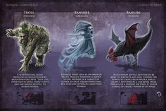Monsters 11 - Troll-Banshee-Basiliskv01.jpg