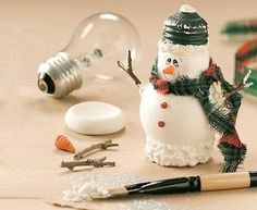 snowman  you can make ornaments out of this too