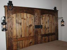 How To Build A Rustic Barn Door Headboard