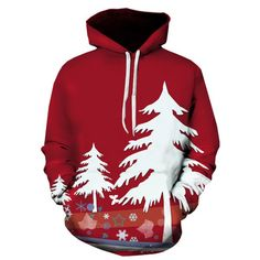 Hooded Christmas Tree 3D Print Pullover Hoodie - Xl Mobile