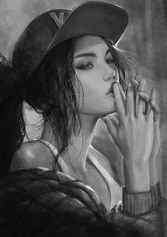 KDA Akali, bläuliches Salz auf ArtStation bei www. Akali League Of Legends, Lol League Of Legends, Character Inspiration, Character Art, Character Design, Digital Art Girl, Jolie Photo, Fantastic Art, Anime Art Girl