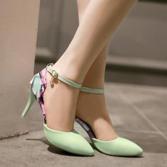 Women's Assorted Color Thin Heel Band Pumps
