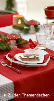 Christmas #tablescape red and white