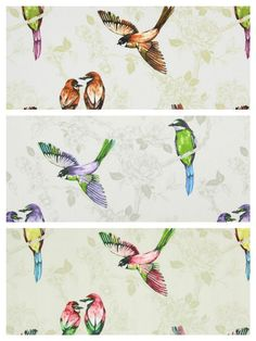 Prestigious Textiles Paradiso Parrot Birds Cotton Curtain Fabric | 3 Colours  | eBay