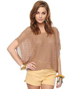 Oversized Pointelle Sweater   FOREVER21 - 2000042846