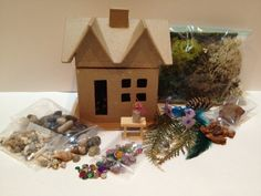 Fairy House Kit  Indoor by FairyGardenDepot on Etsy