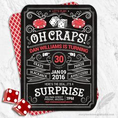 Casino Birthday Party Invitations