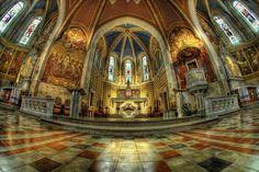 #Bled #Slovenia #svMartina #neogothic #church #Nikon #Samyang #8mm #fisheye #HDR #RiccardoCuppini