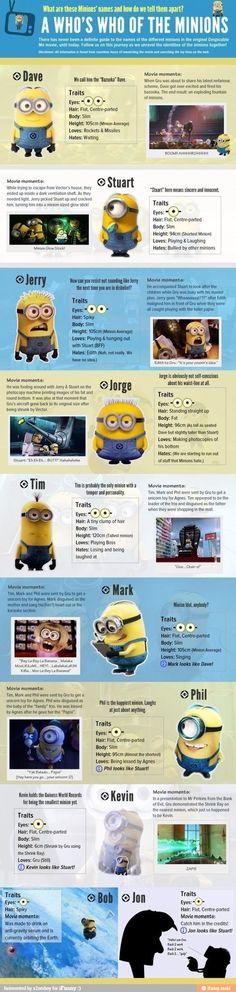 Qui sont les Minions de Moi, Moche et Méchant : décryptage en une infographie