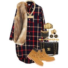 A fashion look from October 2014 featuring Chicnova Fashion dresses, Calypso St. Barth vests and Timberland ankle booties. Browse and shop related looks.