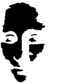 "Képtalálat a következőre: ""face illustration black and white posterized"""